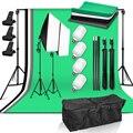 Светильник для фотостудии 50*70 см софтбокс 4x25 Вт Светодиодный светильник с системой поддержки фона 4 фон для фотосъемки