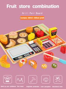 Register-Set Pretend-Play-Toys Simulation-Cut Fruit Baby Kids Kitchen Children Cash Training-Toy