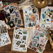 Journamm 46 sztuk Vintage oryginalny styl pieczęć Scrapbooking śmieci Journal prace ręczne z papieru papiernicze arkusze etykiety obecne naklejki