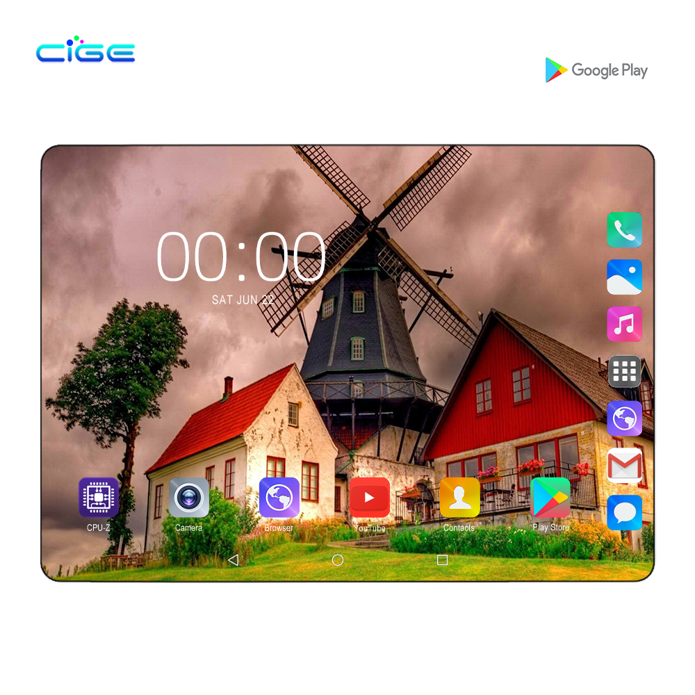 2020 Newest 10 Inch Tablet Pc 6G RAM 128G ROM Kids Tablets With Keyboard Computer 4g Lte Phablet 10.1