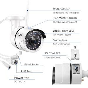 Image 2 - ZOSI 1080P Wifi IP caméra Onvif 2.0MP HD extérieur résistant aux intempéries infrarouge Vision nocturne sécurité vidéo Surveillance caméra