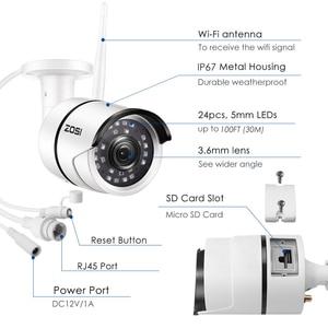 Image 2 - ZOSI, kamera do monitoringu, kamera do monitorowania otoczenia na zewnątrz, odporna na warunki pogodowe, 1080P, Wi Fi, IP, Onvif, 2.0 MP, na podczerwień, rejestracja obrazu nocą, zapewnia ochronę, nadzór wideo