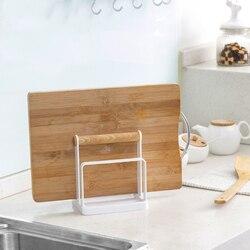 Wielowarstwowa kuchenna deska do krojenia półeczki na drobiazgi półka na pokrywki ręcznik uchwyt na naczynia stojak organizer kuchenny do przechowywania akcesoria pozycja w Półki i uchwyty od Dom i ogród na