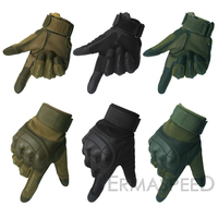 1 Pair Motorcycle Gloves Leather Tactical Military Full Finger Motocross Enduro Cycling Racing Riding Gloves for Dirt Bike Sport 6