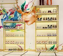 Shoe rack display shelf of clothing store bag shelf of live broadcast room shoe rack display shelf of shoe store multilayer bag босоножки hey beautiful shoe store 603 2015