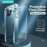 Custodia trasparente di lusso per iPhone 12 11 Pro Max Hard PC + TPU Anti Yellow Full Lens Cover protettiva trasparente per iPhone 11 12Mini