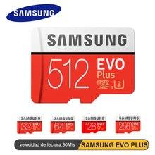 SAMSUNG EVO PLUS de tarjeta de memoria SDHC SDXC grado EVO + C10 UHS TF 512GB 256GB 128GB 64GB 32G Flash tarjetas SD