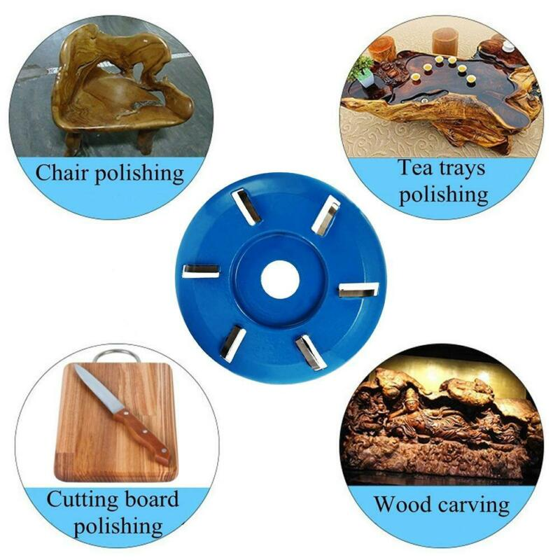 4 Teeth Wood Carving Cutter Disc Milling Attachment For Angle Grinder Tool