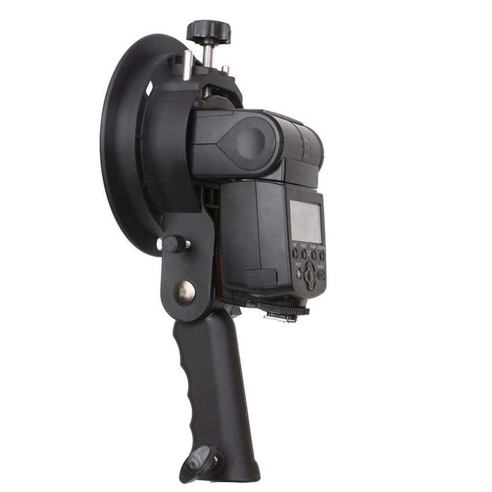 Handheld Grip S-Type Bracket Bowens S Mount Houder Voor Speedlite Flash Snoot Softbox Beauty Dish Portable