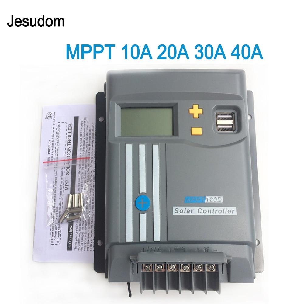 Mppt display lcd 10a 20a 30a 40a com wifi 12v/24v painel solar regulador de bateria carga controlador duplo usb lifepo4 ou lítio