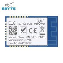 Cc2530 zigbee 2.4ghz módulo sem fio E18-MS1PA2-PCB ebyte 100mw módulo de rede ad hoc de longa distância zigbee com antena do pwb