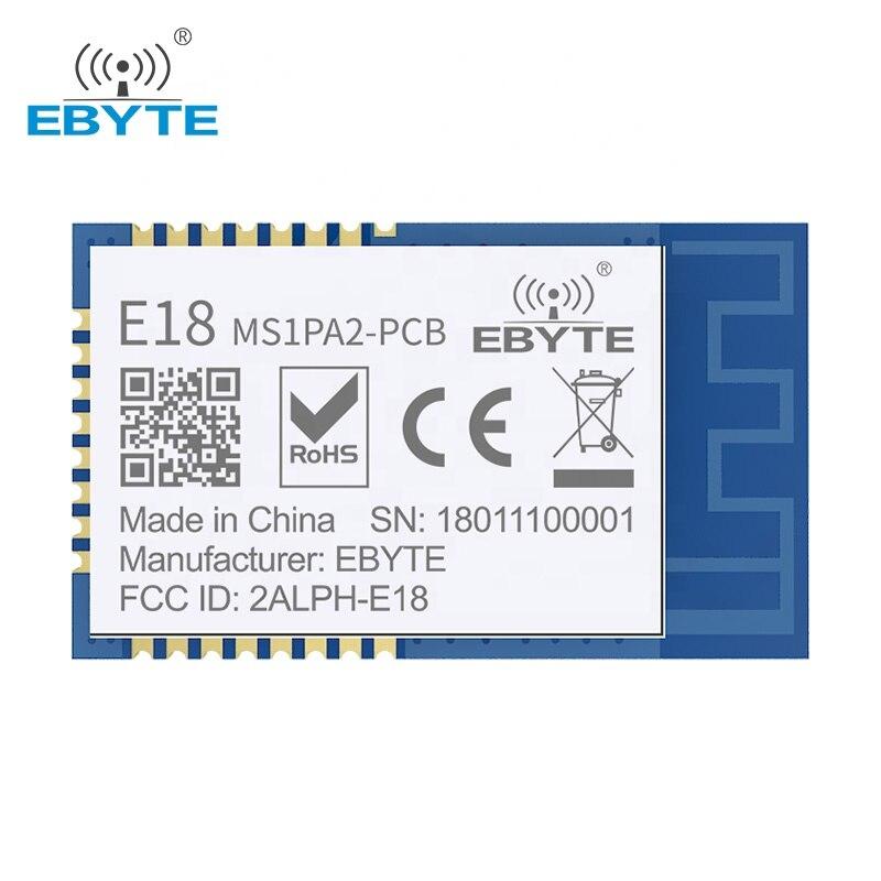 Ebyte cc2530 zigbee 2.4ghz módulo sem fio E18-MS1PA2-PCB 100mw de longa distância zigbee módulo de rede ad hoc com antena do pwb