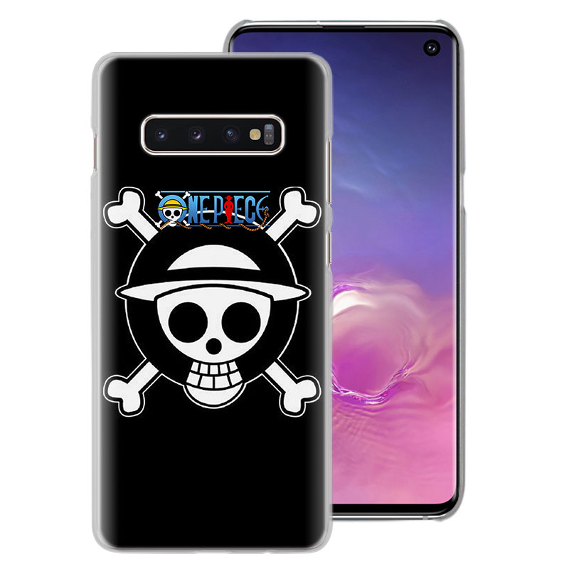 One Piece Luffy flag logo Phone Cases for Samsung Galaxy S10e S10 S8 S9 Plus M10 M20 M30 A50 S6 S7 Edge TPU case cover in Half wrapped Cases from Cellphones Telecommunications