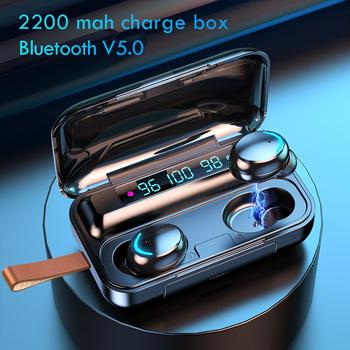 Słuchawki bezprzewodowe z Bluetooth z mikrofonem sportowe wodoodporne słuchawki TWS Bluetooth sterowanie dotykowe bezprzewodowe słuchawki z mikrofonem słuchawki douszne tanie i dobre opinie Bupuda Dynamiczny CN (pochodzenie) wireless 120dB Do Gier Wideo Dla Telefonu komórkowego Słuchawki HiFi NONE Instrukcja obsługi