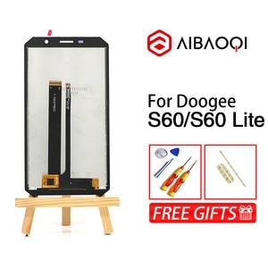 Image 5 - AiBaoQi جديد الأصلي 5.2 بوصة شاشة تعمل باللمس 1920X1080 شاشة الكريستال السائل الإطار الجمعية استبدال ل Doogee S60/S60 لايت الهاتف