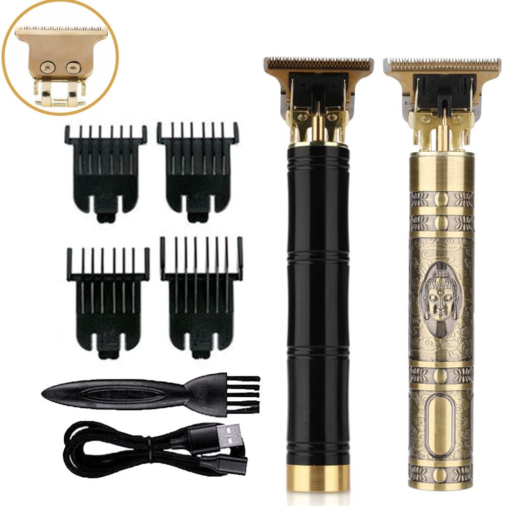 Электрическая машинка для стрижки волос, Профессиональный парикмахерский аппарат для волос, аккумуляторная бритва, беспроводной триммер д...
