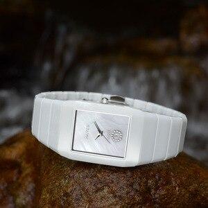 Image 5 - HAIYES Black Ceramic Men Watches Top Brand Luxury Simple Crystal Quartz Watches Men Relogio masculino
