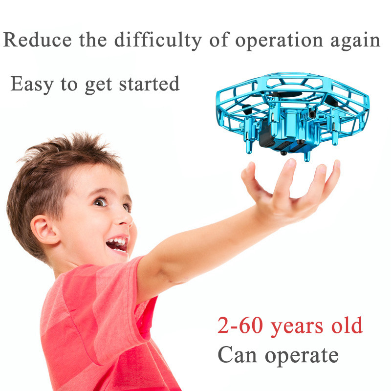 Mini Drone UFO Toys Infrared Sensing Control Hand Flying Aircraft Quadcopter Infraed RC Helicopter  Kid Toy|RC Helicopters|   - AliExpress