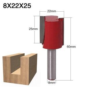 Image 4 - 1 قطعة 8 مللي متر عرقوب 2 الناي مستقيم بت أدوات النجارة راوتر بت للخشب التنغستن كربيد endmill قاطعة المطحنة