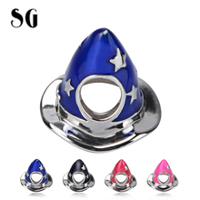 SG 925 silver color Enamel hat charms beads collection Fit original pandora bracelet DIY jewelry making gifts 4 available
