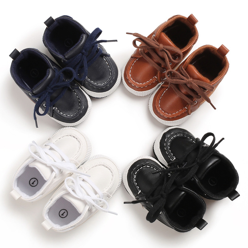 Soft Sole Leather Baby Shoes Boy Girl Infant Toddler Kid Children Crib 0-18M