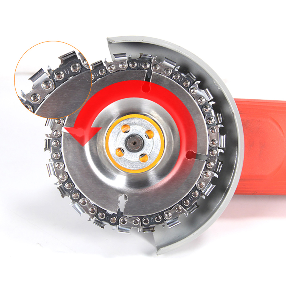 4 Inch Woodworking Saw Blade Cutting Blade Wood Slotted Saw Blade Angle Grinder Carbide Wood Carving Disk Grinder Disc Chain