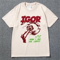 Golf Wang Igor Tyler De Schepper Rapper Hip Hop Muziek Zwart T-shirt Katoen Mannen T-shirt Nieuwe Casual Tee Unisex swag Tshirt