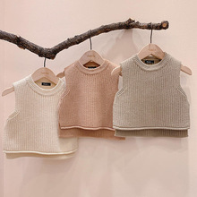 Outerwear Vest Baby-Girl Kids Winter Solid Sweaters Pullover Chalecos Toddler