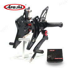 Arashi For KAWASAKI Z800 13-16 CNC-Machined Rearset Adjustable Footrest Foot Pegs Rear Rest 2013 2014 2015 2016