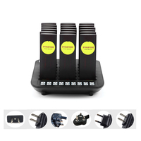 BYHUBYENG wireless queue pager system for restaurant electronic paging system 18pcs pagers with flash beep shake call buzzer