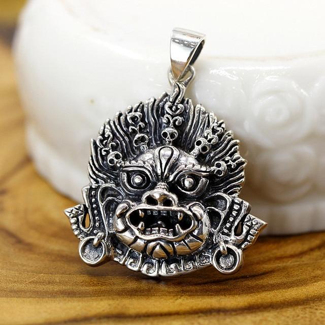 Uglyless Religieuze Geschenken Sieraden Boeddhistische Duivel Hangers voor Mannen Cool Thai Zilveren Kettingen GEEN Kettingen 925 Zilveren Bijoux P977