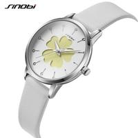Sinobi יופי פרח עיצוב אישה שעונים למעלה מותג לבן רצועת נשים קוורץ שעוני יד אלגנטי אופנה נשי שעון AAAAA 19|שעונים לנשים|   -