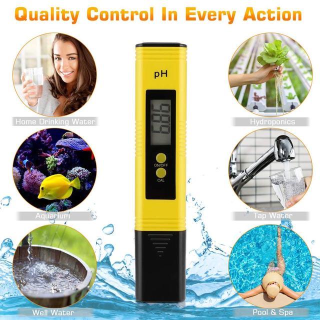 PH Meter 0.01 PH High Precision Water Quality Tester with 0-14 PH Measurement Range, Suitable for Aquarium, Swimming Pool 6