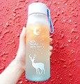 Мультяшная герметичная бутылка для воды с оленем для девочек, портативные бутылки для воды для езды на велосипеде, путешествий, пластиковая...