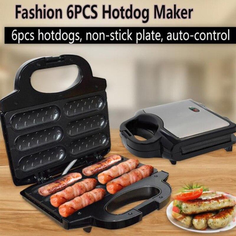 220V EU Electric Waffle Sausage Machine Crispy French Hot Dog Lolly Stick Breakfast Frying Pan Hotdog Corn Baking Barbecue Grill