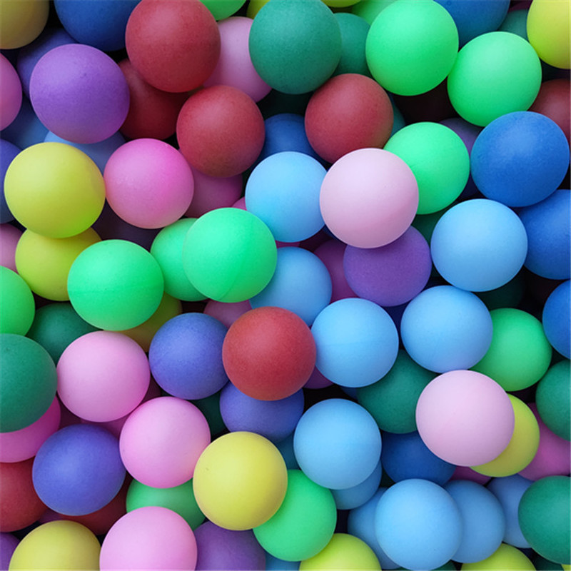 One Pack Colored Ping Pong Balls 40mm 2.4g Entertainment Table Tennis Balls Mixed Colors For Game And Activity Mix Color