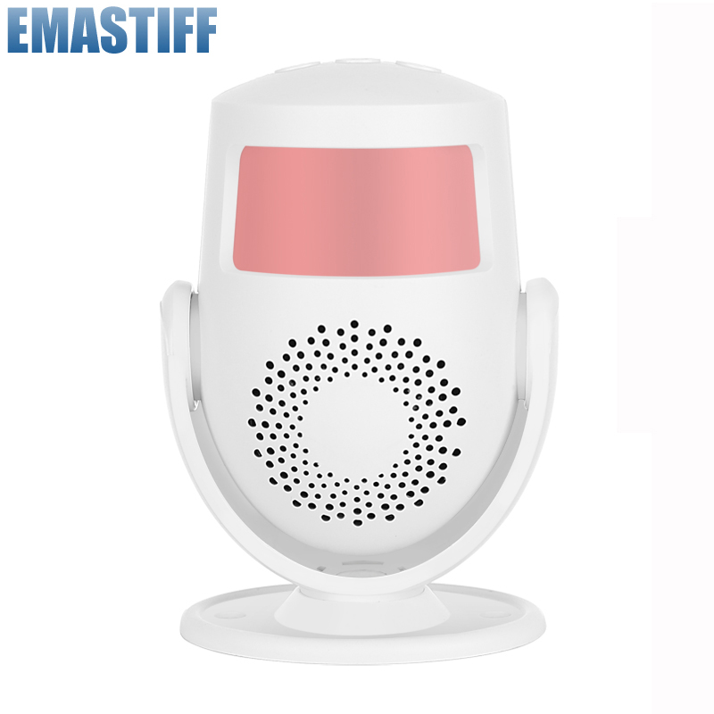 Wireless Intelligent Greeting Welcome Doorbell PIR Infrared Motion Sensor Warning Door Bell Burglar Alarm System