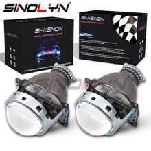 Sinolyn lente Bixenón 3,0 D2S HID para faros delanteros Koito Q5, Kit de Metal completo para automóviles, luces de coche H4, accesorios de sintonización