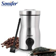Mini elektrikli kahve değirmeni makinesi mutfak tuz karabiber değirmeni baharat fındık tohumu kahve çekirdekleri değirmen otlar fındık 220V Sonifer
