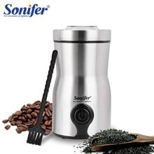 Mini moulin à café électrique machine cuisine sel poivre moulin épices noix graine café grains moulin herbes noix 220V Sonifer