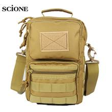 Men Tactical Bag Sling Mollle System Bags Sport Handbag Shoulder Pack Military Crossbody Bags Travel Camping Phone Bag XA107A