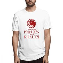 2019 Mens Short Sleeve T-shirt 3D Print t shirt I Am Nota Princess A Khaleesi Cotton Funny homme Top Tees