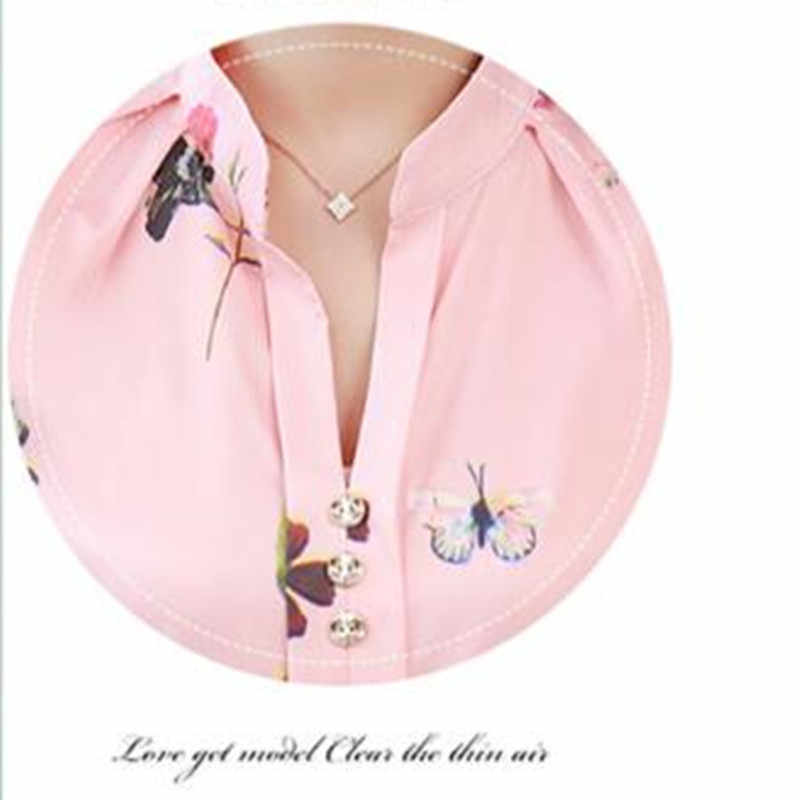 Shirts women elegant casual blouse Office chiffon shirts Large size mujer de moda Women's White shirts Spring Autumn 5XL blouses