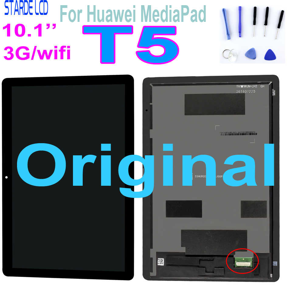 "Original 10.1 ""สำหรับHuawei MediaPad T5 10 AGS2-L09 AGS2-W09 AGS2-L03 AGS2-W19 จอแสดงผลLCD Touch Screen Digitizer Assembly"