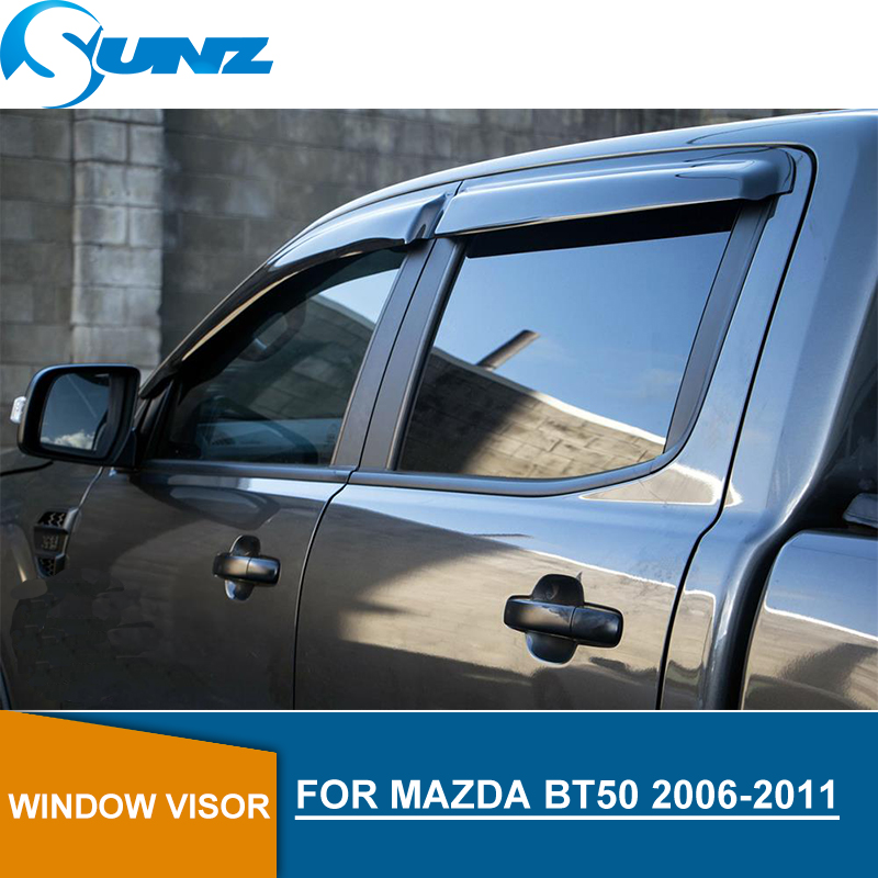 For Mazda BT-50 2007-2011 Window Side Visors Sun Rain Guard Vent Deflectors