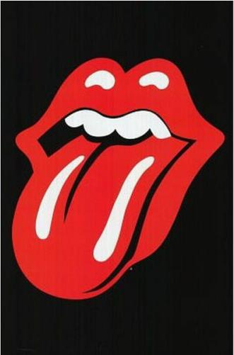 Rolling Stones - Tongue <font><b>Logo</b></font> Jagger Music Silk <font><b>Poster</b></font> Decorative Wall Paint 24X36Inch image