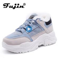 FUJIN zapatillas de deporte casuales para mujer, zapatos transpirables de plataforma, botas de nieve, para verano