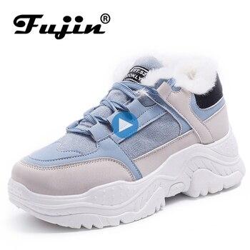 Женские кроссовки на платформе FUJIN, дышащие повседневные кроссовки на весну и осень