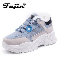 Fujin mulheres tênis casuais tênis de inverno respirável sapatos femininos verão comrfortable plataforma botas de neve sapatos femininos