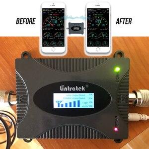 Image 5 - Lintratek 2G 3G 4G GSM 850 900mhz amplificador de señal celular teléfono celular UMTS LTE 900 repetidor amplificador de techo antena Set #9
